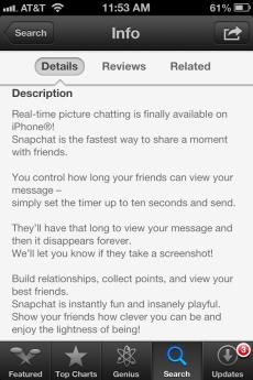 Description of the iPhone app Vine
